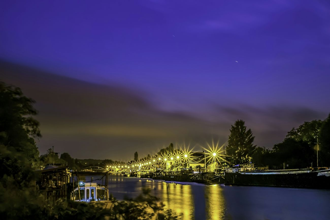 France Saint Mammės Village Longexposurephotography Nightphotography Riverside Cityscape