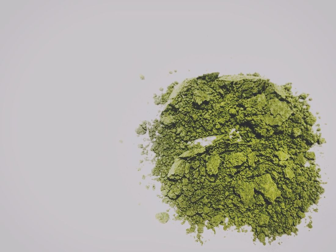 Close-up Deceptively Simple Delicious Food And Drink Freshness Green Green Color Green Tea Green Tea Powder Healthy Healthy Eating Home Cooking Ingredient IPhoneography Japanese Food Matcha Matcha Powder Matchagreentea Negative Space No People Powder Preparation  Simple White Background Still Life