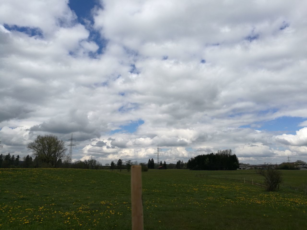 sky, cloud - sky, grass, field, day, no people, nature, tree, outdoors, landscape, tranquility, beauty in nature, scenics