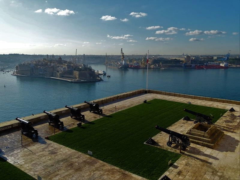 Cloudscape Travel Travel Photography Traveling Travelling Valetta Malta Battery Cannon Cityscape Cloud - Sky Clouds And Sky Grand Harbour Harbor High Angle View Sea Sea And Sky Seascape Seaview Sky Travel Destinations Traveller Valetta