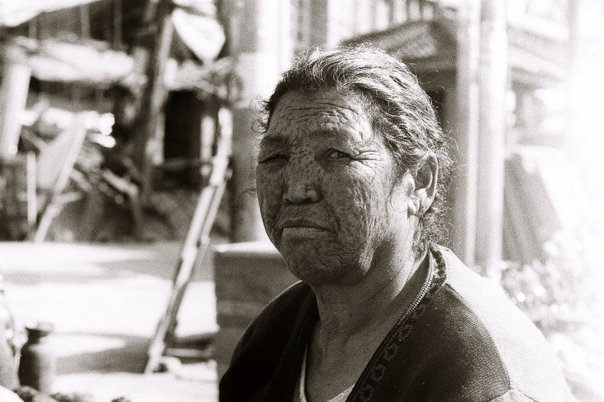 Street portrait in Kathmandu, Nepal Untold Stories Nikkormat FS (1965) Filmcamera The Purist (no Edit, No Filter) Portrait Blackandwhite Tadaa Community EyeEm Best Shots Kathmandu Filmisnotdead