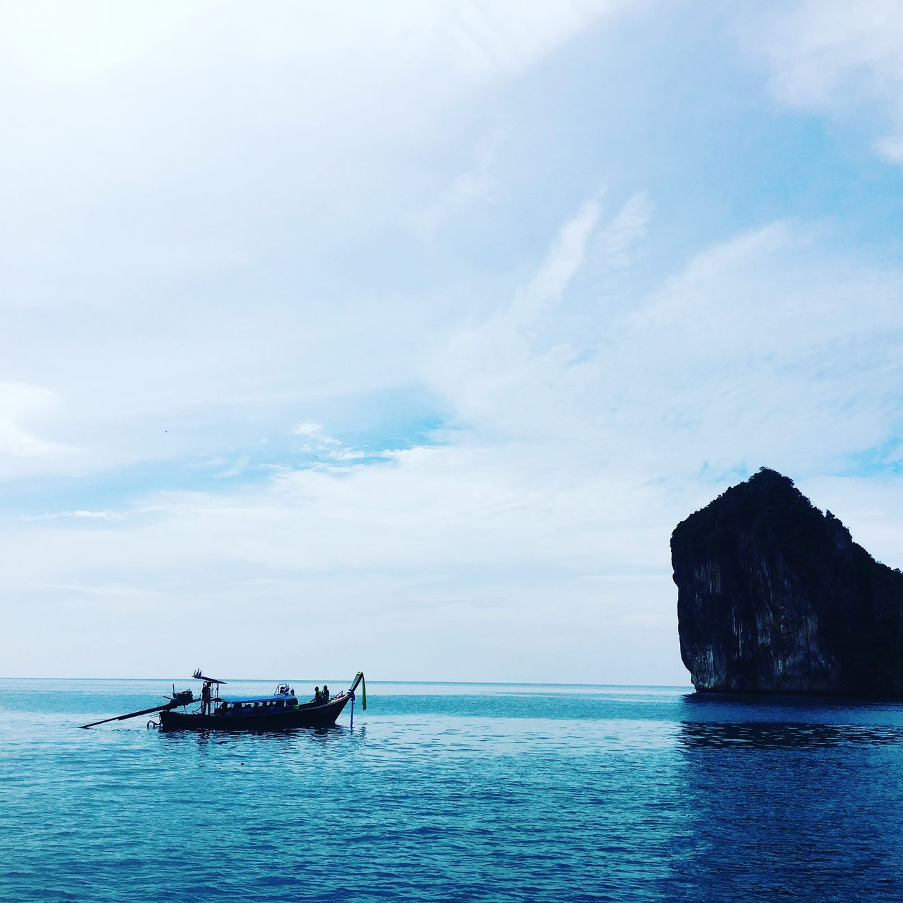 Travel Photography IPhoneography Krabi Thailand Sea Water Outdoors Sky No People Nature Day Astrology Sign Dusk Sky First Eyeem Photo Boatyard