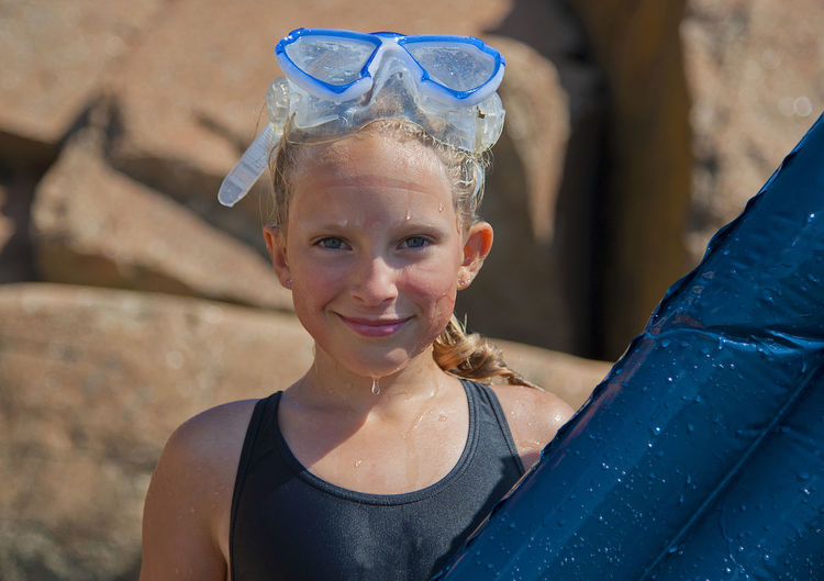 Childhood Day Diving Diving Mask Girl Happiness Headshot Looking At Camera Nikon Norway Norwegian One Person Portrait Real People Smiling Summer Swimming Swimsuit Vacation Water Wet
