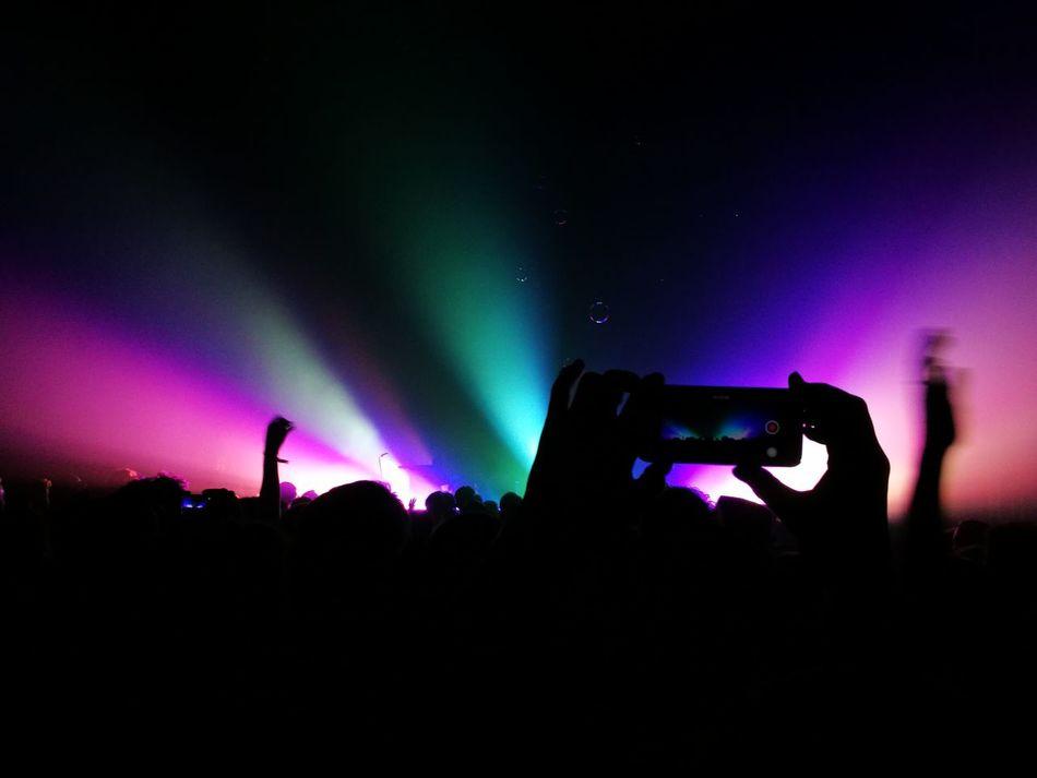 Maifeldderby Maifeld16 Konzert Concert Festival Mannheim Explosions In The Sky Smartphone Lightshow Rock Progrock Audience