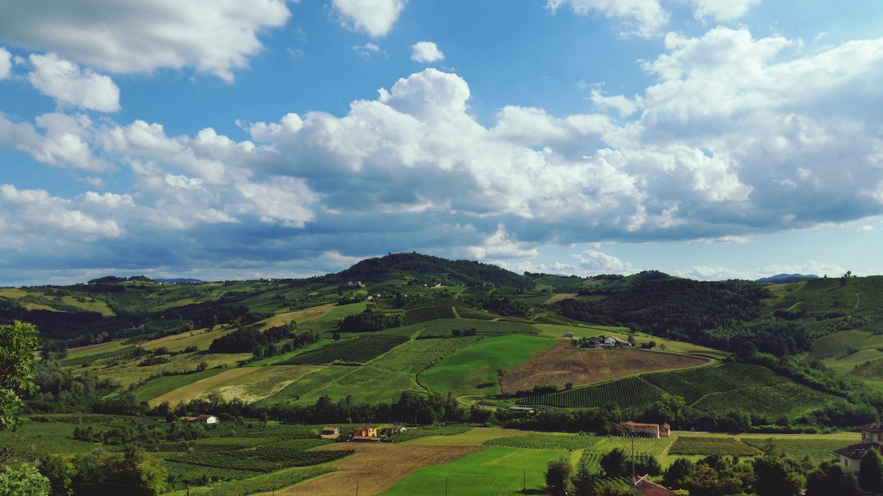 "Oltrepopavese Sky And Clouds Landscape EyeEm Nature Lover ""the county"""