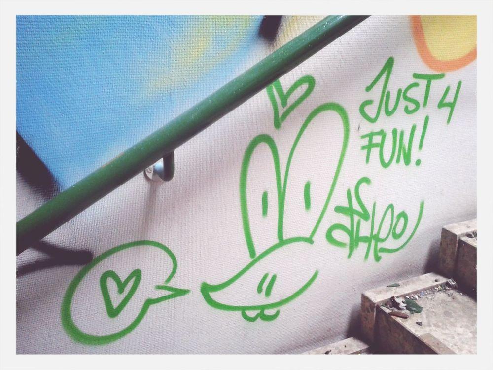 """Just 4 fun."" #Fotostrasse #Neukölln"