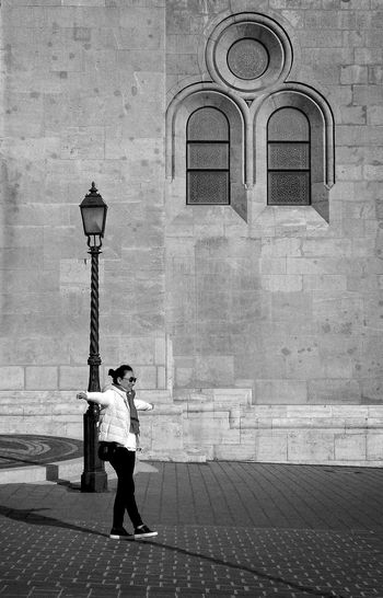 Full Length One Person Day Built Structure Architecture Outdoors Adult Only Women People One Woman Only Adults Only Young Adult City Tightrope Walker Budapest Tourist Budapest Mathias Church The Week On EyeEm