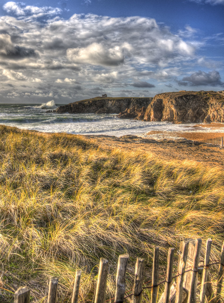 nature, tranquility, beauty in nature, scenics, no people, sky, grass, day, landscape, outdoors, tranquil scene, cloud - sky, growth, field, water