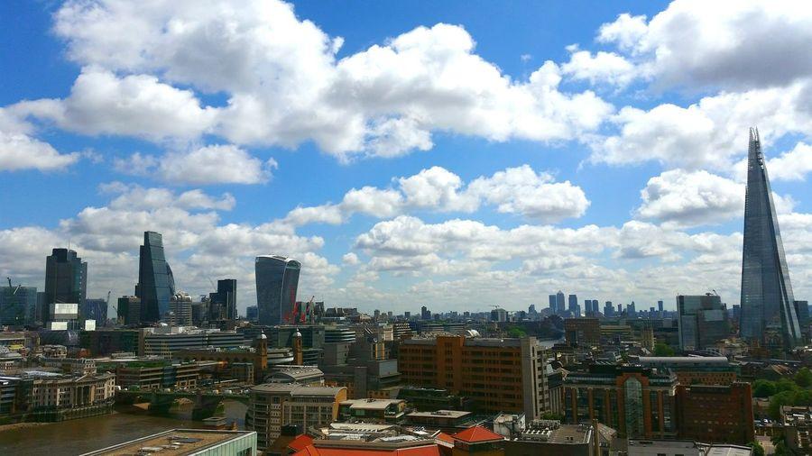 London The Shard Canary Warf Skyline