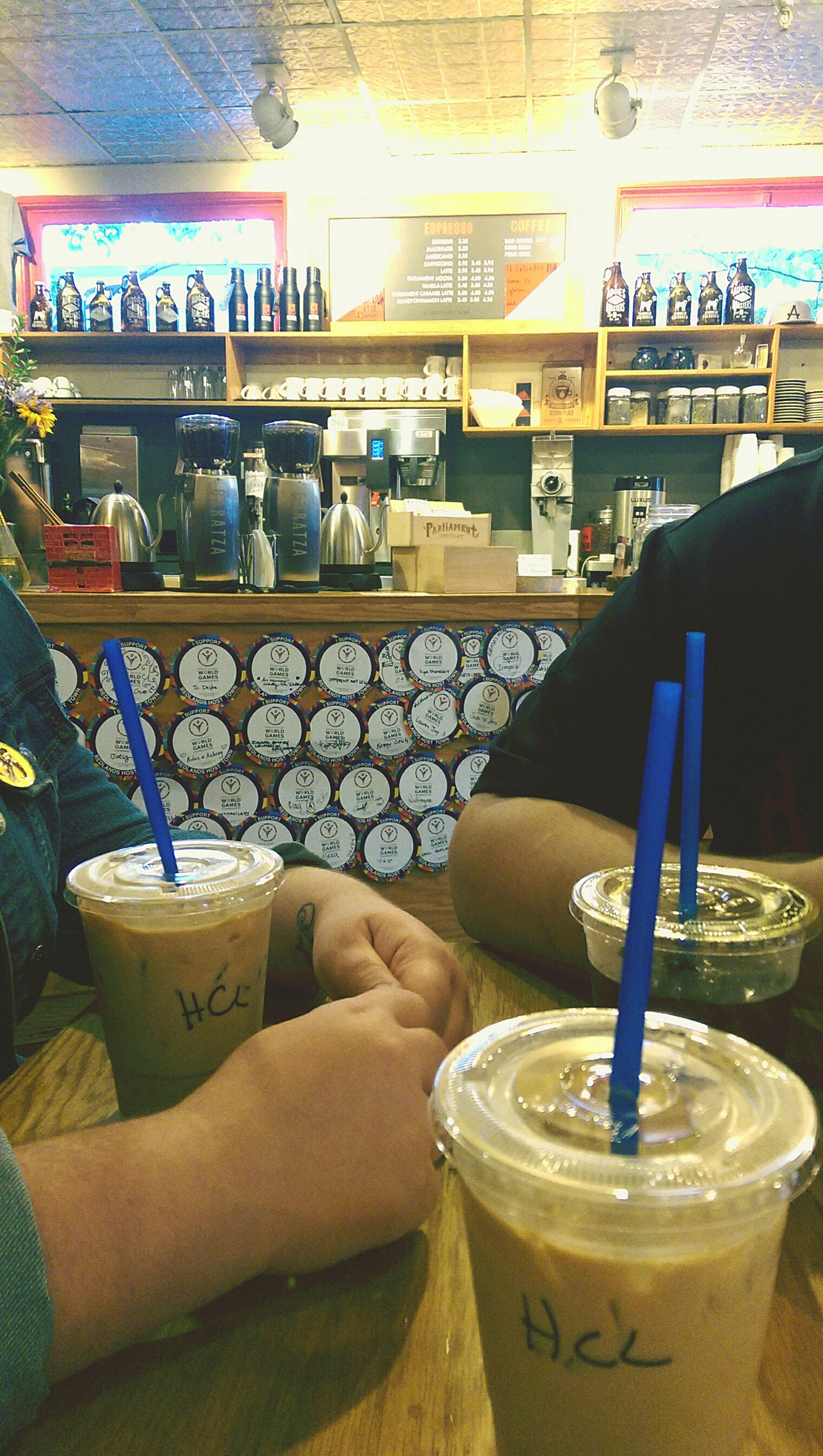 Augies Augies Coffeehouse Coffee Break Honey Latte Cold Brew Coffee Friends