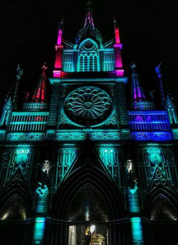 Las Lajas Cathedral Night Architecture Travel Destinations Built Structure Building Exterior Ecuador AllYouNeedIsEcuador