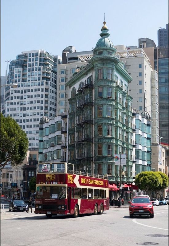 City Architecture Building Exterior Transportation Outdoors Day No People Sky California Streetphotography San Francisco Columbustower Flatiron Building City Sentinel Building Columbus Tower EyEmNewHere Eyemphotography EyeEmNewHere