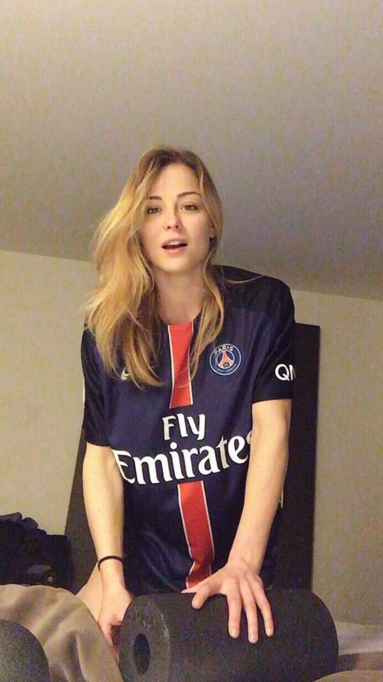 Paris Saint Germain PSG  France Young Women Confidence  Happiness Blue SexyAsFuck Sexygirl Soccer⚽ Beautiful Woman Football Girl Pretty Beauty Beautiful Girl Love Portrait Football Soccer Cute Beautiful Happy Long Hair Blonde Blonde Girl