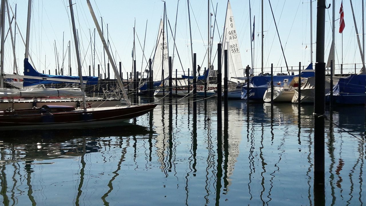 🎶I am sailing 🎵 Nautical Vessel Water Sailboat Travel Destinations No People Harbor Sailing Ship Nature Sea Transportation Reflection Patterns Day Sky Lake Lake Constance Überlingen Marina Regatta Weekend Ship Details Harbour Harbour Life Water Sports Sport