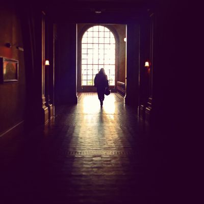 Arch Coat Elegant Interior Interior Design London London Museum Museum Shadow Sunshine Unidentifiable People Walking Away Window