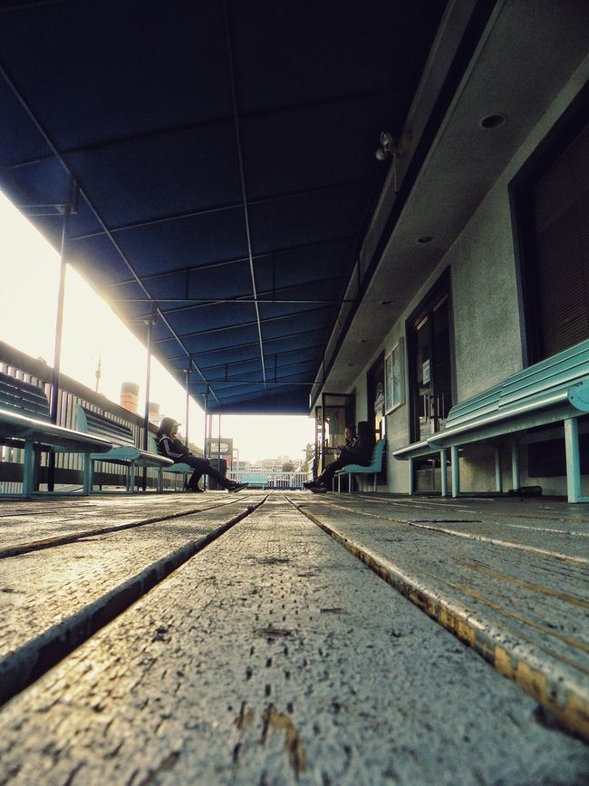 Architecture Built Structure Day Diminishing Perspective Empty Illuminated Long Narrow No People Outdoors Sky Surface Level The Way Forward Vanishing Point Walkway