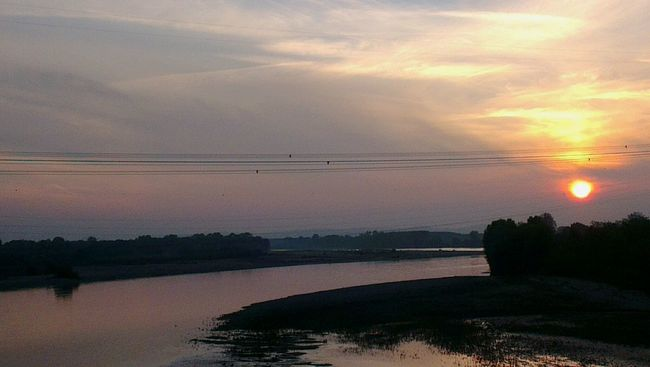 The italian big river... the Po! Fotoitaliane Born To Be Wild On The Road On My Truck Sunset River Sky Landscape