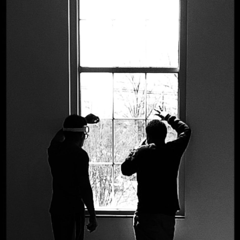 At School Drawing Class Black And White Window