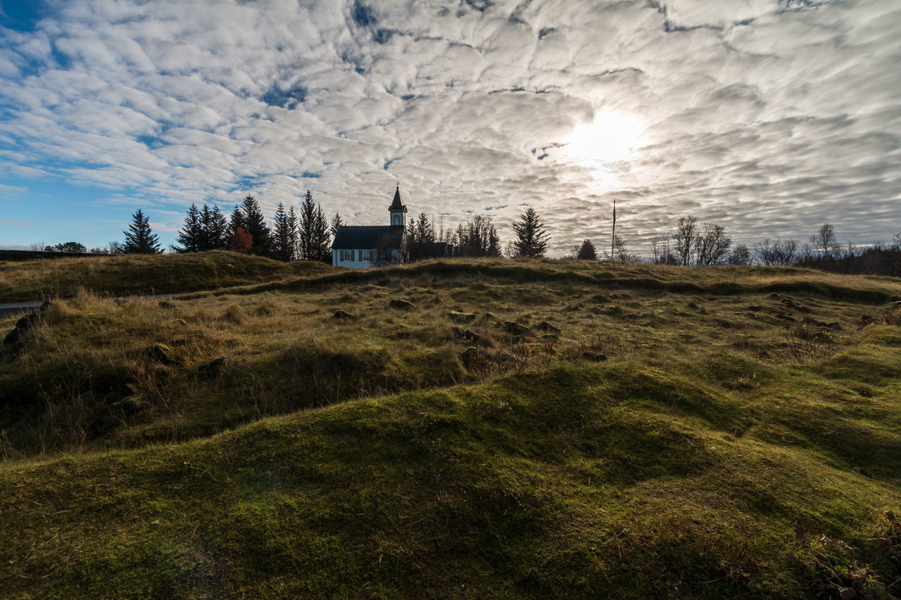 Sky Nature Tree Outdoors Landscape No People Sunset Sun Photography Thingvellir National Park Iceland Clouds Day Canon Canon 70d Wide Angle þingvellir