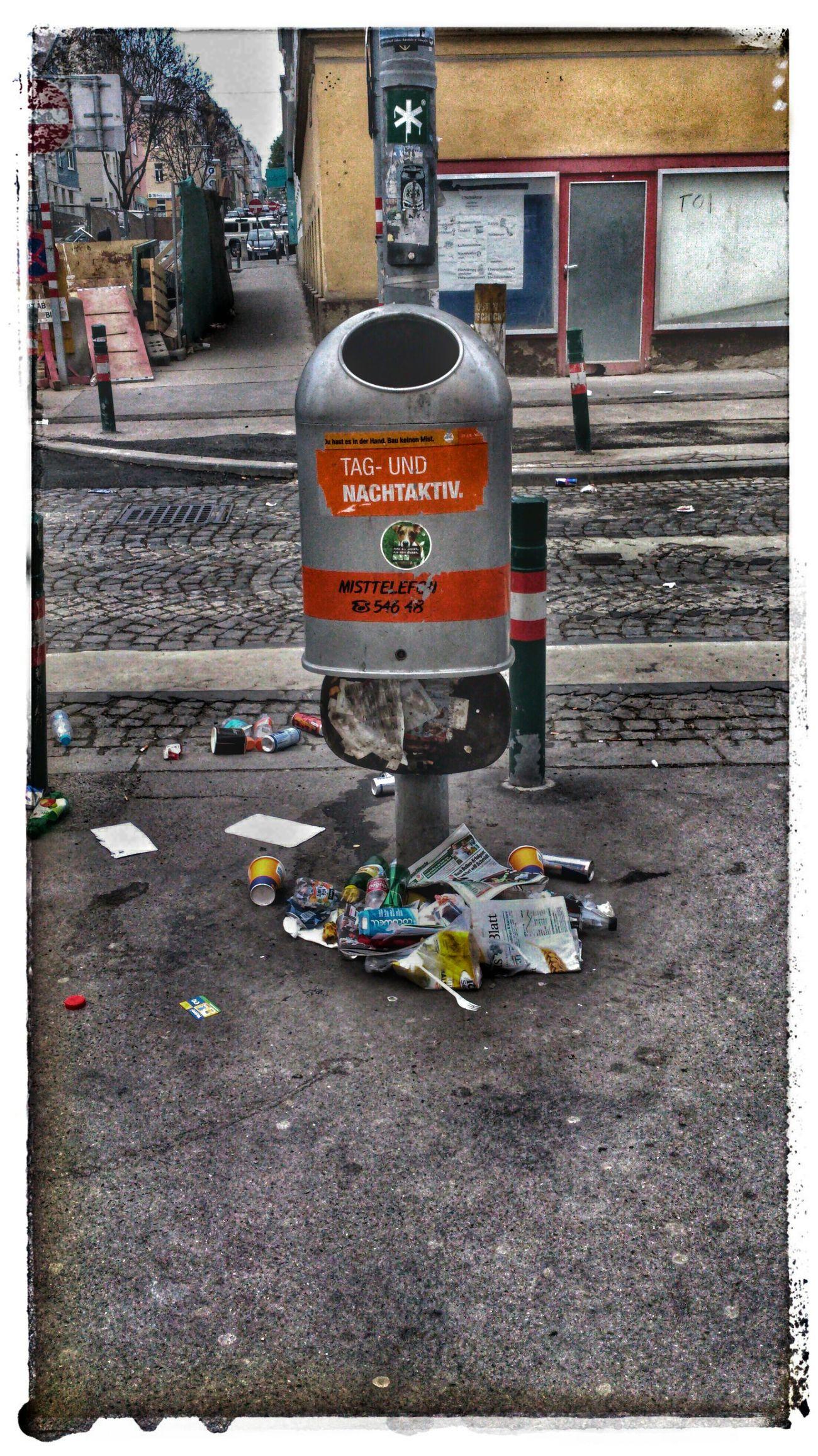Mülleimer Der Stadt Wien April 2014 Trash Müll