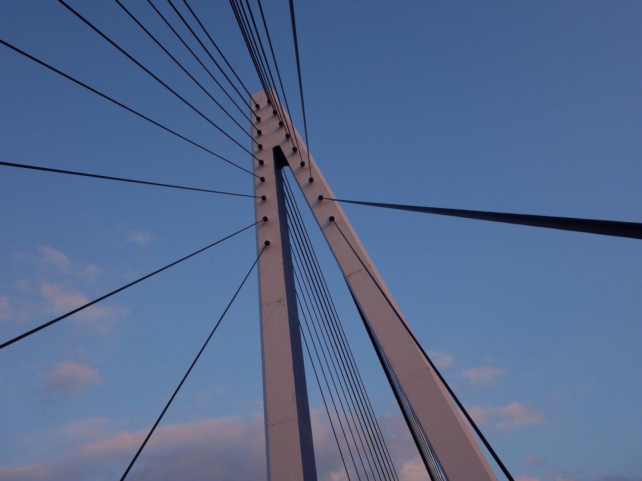 夕陽 空 マリン大橋