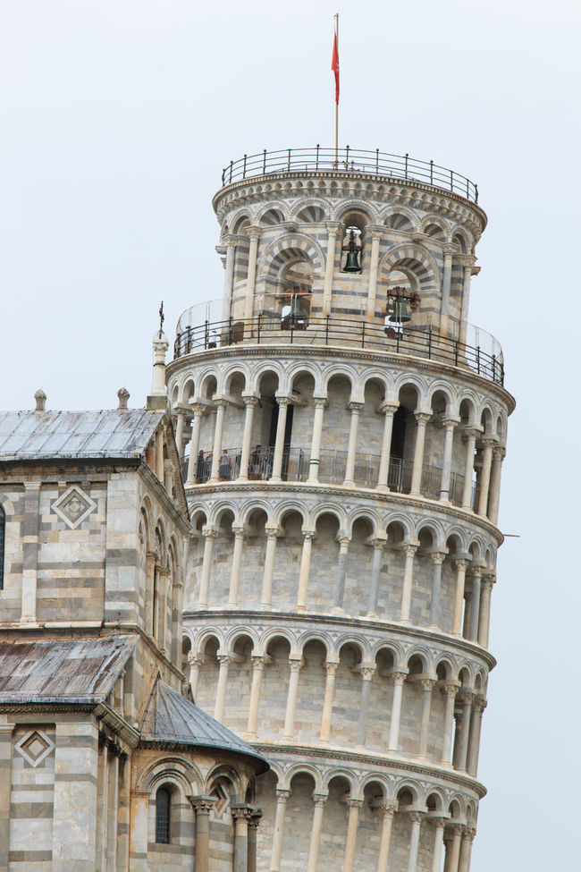 The Leaning Tower of Pisa. Tuscany, Italy Architectural Column Architecture Built Structure Day Façade No People Outdoors Pisa Pisa Tower Sky Travel Destinations Tuscany