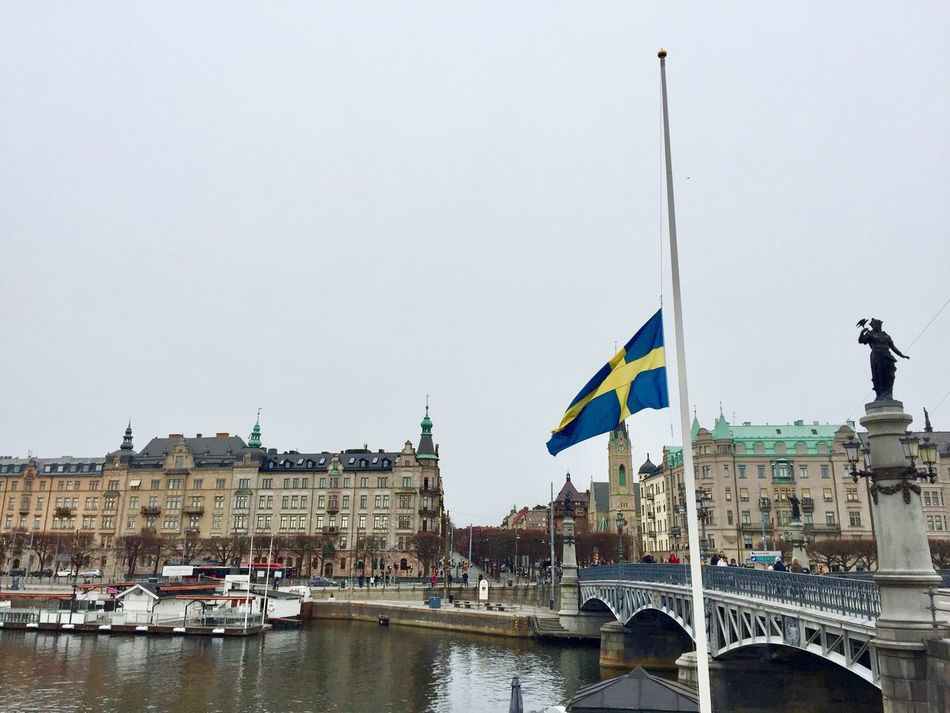 Flag Patriotism Water Fuckingterrorists Terror STRONGERTOGETHER Stronger Togther❤ 😞 City Stockholm, Sweden Stockholm Sweden
