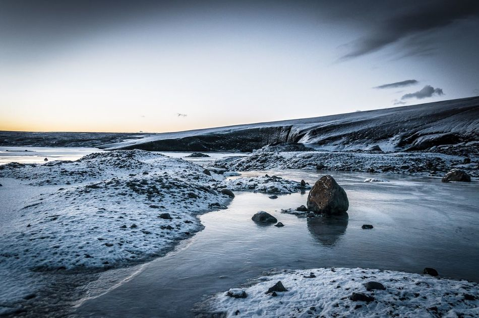Skaftafell Glacier , Iceland Landscape Fine Art Photography Lonely Ice Rock The KIOMI Collection Travel Travel Photography