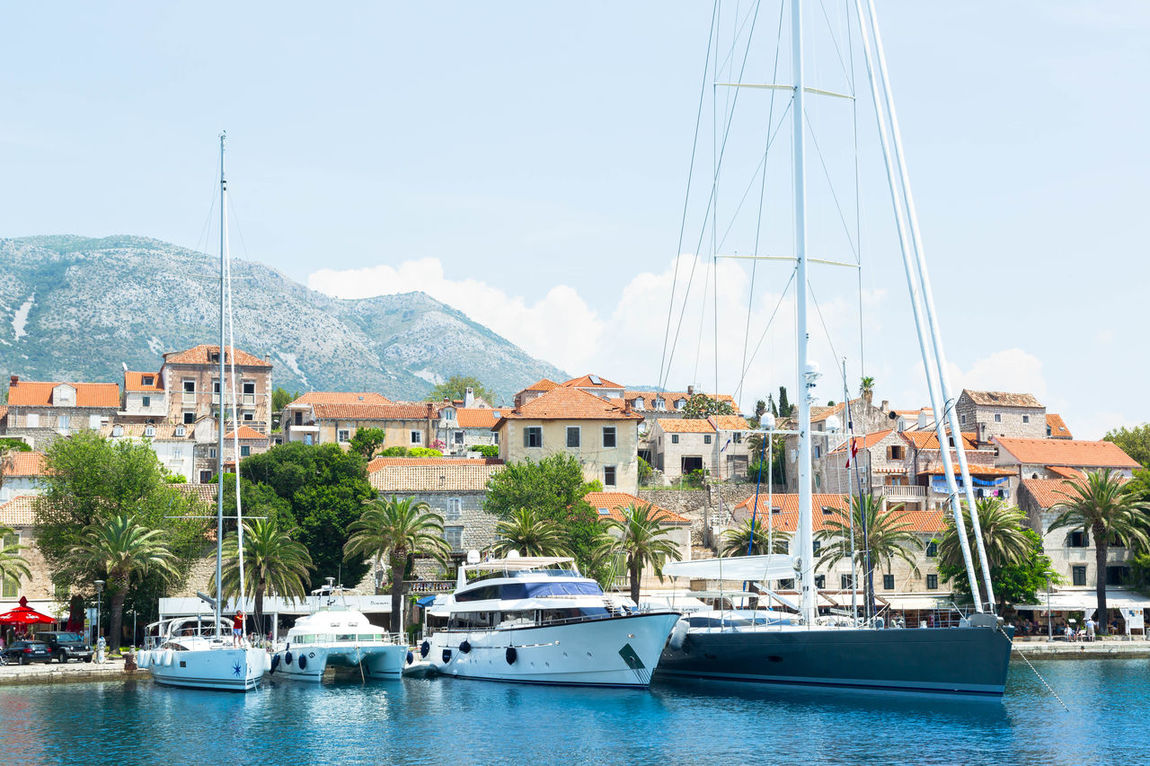 Beautiful yachts docked at Cavtat harbor in Croatia Adriatic Sea Architecture Beautiful Blue Cavtat  Croatia Family Vacation Holiday Luxury Life Mega Yacht Motor Yacht Nature Sailing Yacht Sea Sky Speed Summer Tourism Tourist Travel Travel Destinations Vacation Yacht Yachting Life Yachts