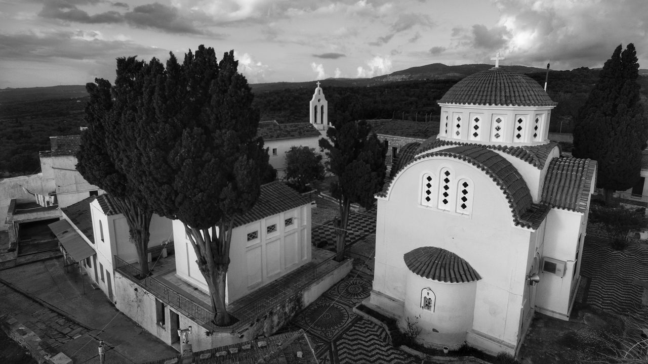 Architecture Monastery Church Architecture Religious Architecture Religion Blackandwhite Blackandwhite Photography Travel Destinations Aerial Shot Dronephotography Aerial View Architecture Calmness Tranquility Tranquil Scene No People Outdoors Church Malephotographerofthemonth