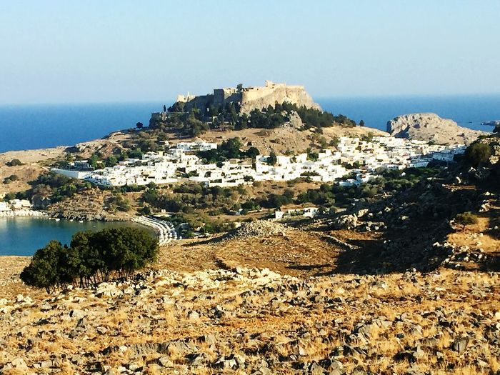 Holiday Beach Travel Destinations Outdoors No People Nature Water Sea Landscape Grecia Lindos Lindos White Sun