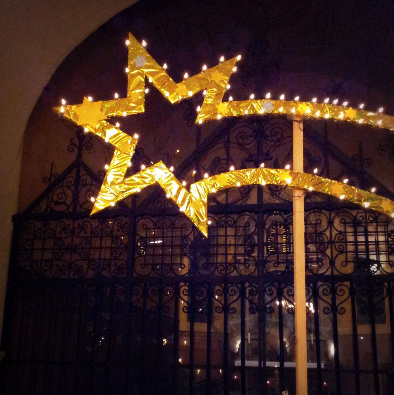 Architecture Art Christmas Tree Crib Illuminated KRIPPE Night Ornate Place Of Worship Religion S Star Of Bethlehem Stern Weichnachtsstern