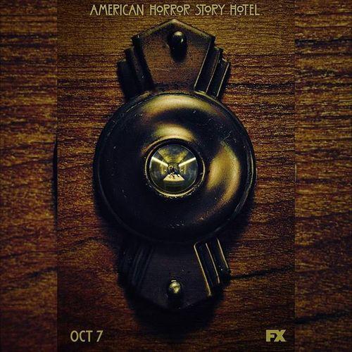 AHSHotel first promotional poster 👿👿👹 AHSGaga Ahs Fox FX MakeYourReservation