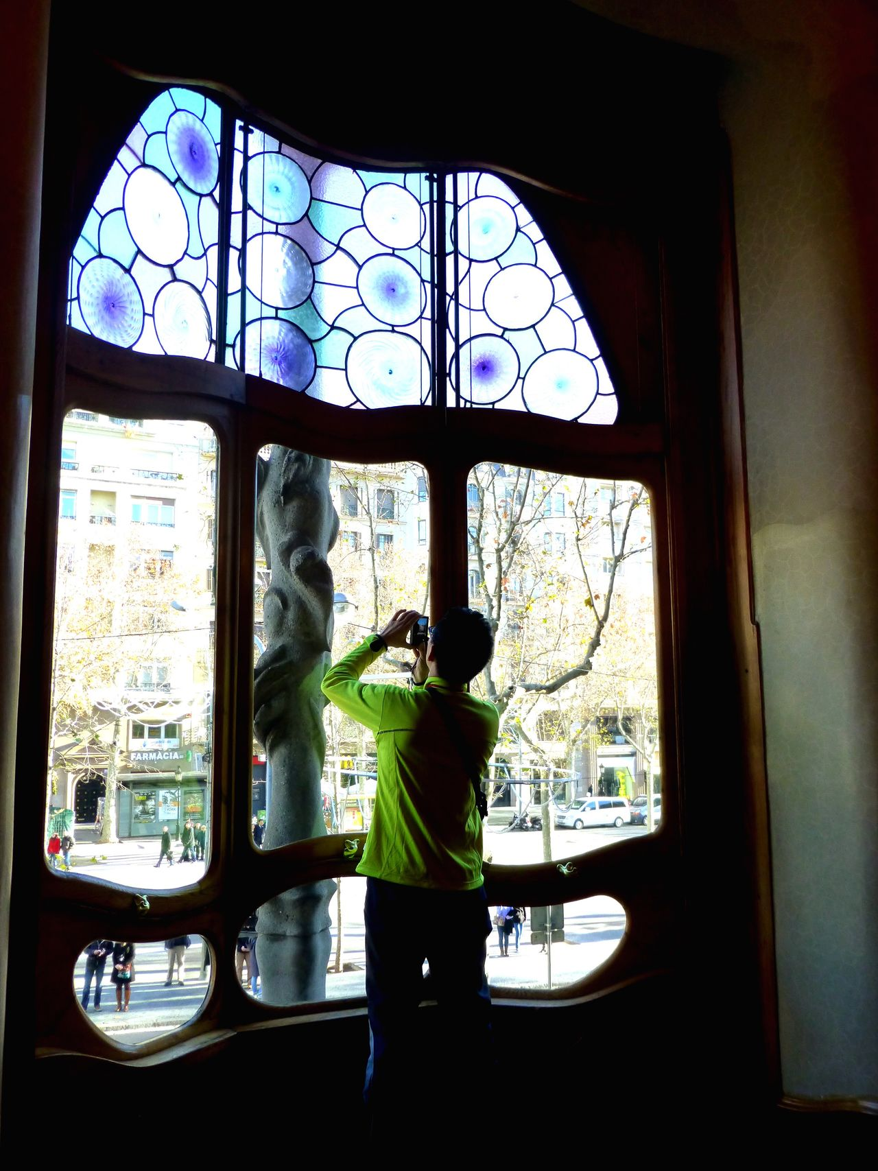 Window side photographer Window Rear View One Person Full Length Indoors  Standing Looking Through Window Day People Adult Stained Glass Window Gaudi Gaudì Architecture Work Gaudi #barcelona My Year My View
