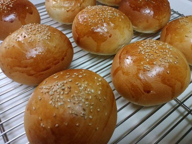 明日のお弁当はハンバーガー ばん ハンバーガー バンズ Homemade Bread Hamburger