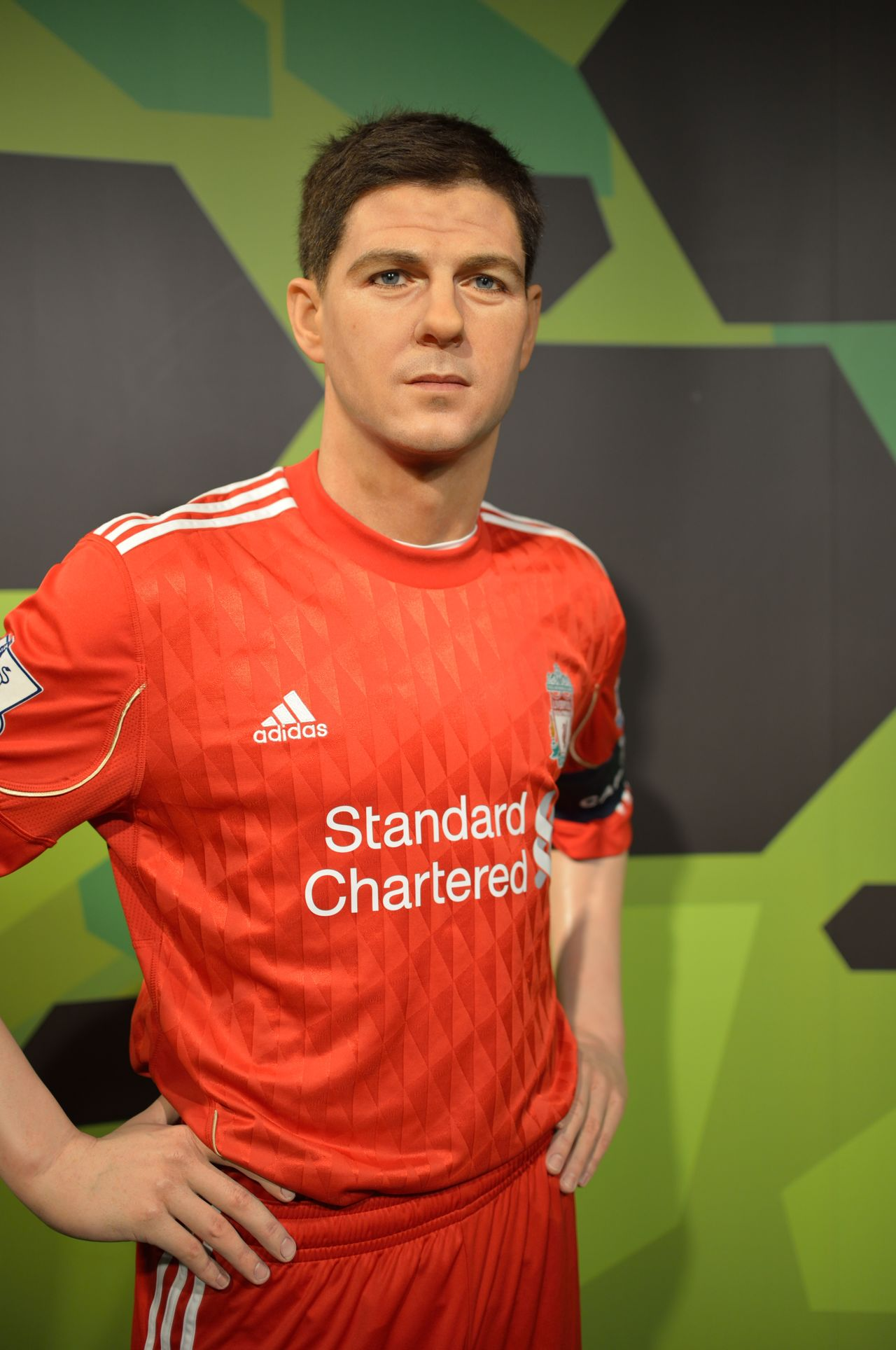 Steven Gerrard Casual Clothing Childhood Composition Confidence  Fashion Front View Happiness Innocence Leisure Activity Lifestyles Looking At Camera Madame Tussauds Person Perspective Portrait Real People Standing Three Quarter Length Waist Up Wax Dolls Wax Museum Young Adult Young Men