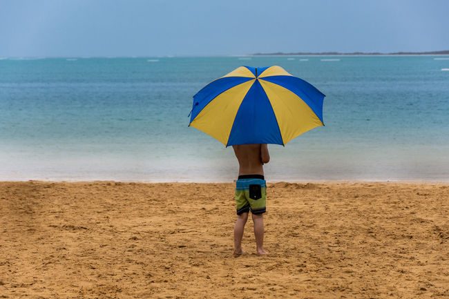 under my umbrella in DeadSea Beach Beauty In Nature Blue Casual Clothing Color Palette Colour Of Life Deadsea EyeEm Team Full Length Horizon Over Water Idyllic Leisure Activity Lifestyles Nature Eyeemphoto Scenics Sea Shore Tranquil Scene Tranquility Umbrella The Magic Mission Eyeemoninstagram Pivotal Ideas