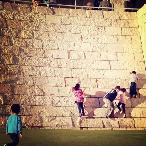 Kids Museum Wall Climbing Enjoying The Day