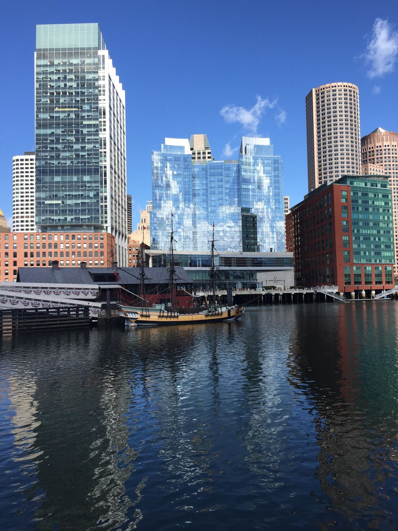 Finally, a beautiful day in Boston! Water Reflections Reflection Architecture Urban Geometry Landscape Landscape_Collection Water Water_collection Clouds And Sky The Purist (no Edit, No Filter)