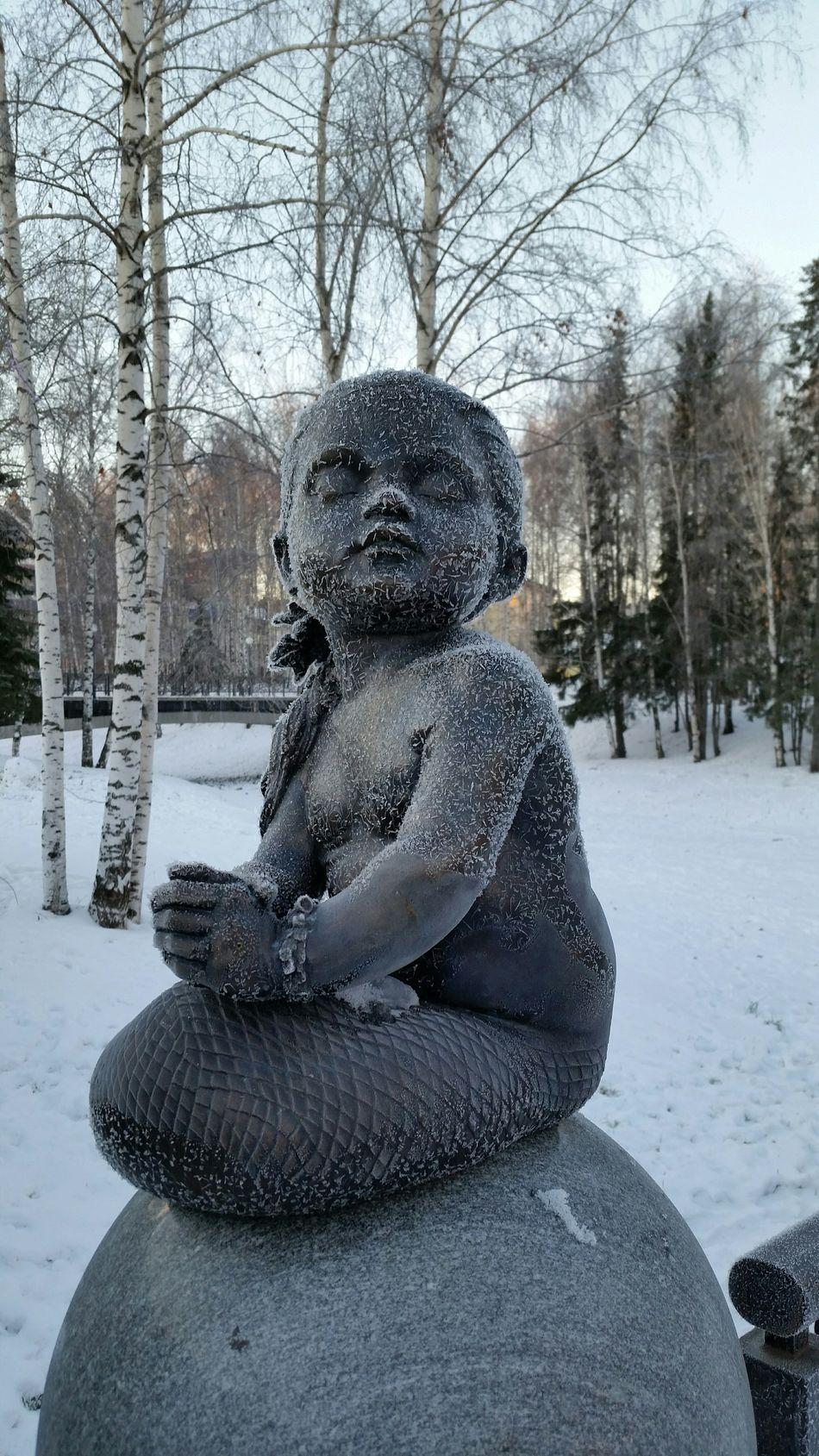 Русалка замерзла скульптура Mermaid Frozen Sculpture Morning