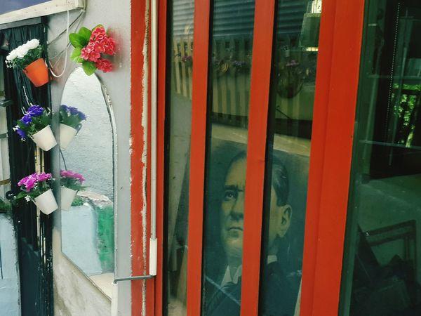 Flower Day Window Box Outdoors Plant People Adult Building Exterior Architecture One Person Adults Only City ATATÜRK ❤ Atatürk Turkey Türkiye Art