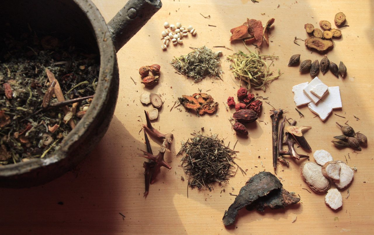 traditional Chinese medicine comprise different kinds of Chinese herbs Chinese Herb Pharmaceutical Chinese Medicine Culture Of China Food Healthy Eating Herb High Angle View Large Group Of Objects Medical Medicinal Herb Medicinal Plant Medicinalherbs Medicine Pot Style Of China Beautifully Organized Traditional Traditional Culture Traditional Culture Of China Variation Old-fashioned Old But Awesome Tea - Hot Drink Patterns In Nature