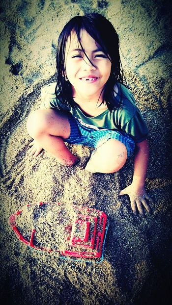 Angel in the sand