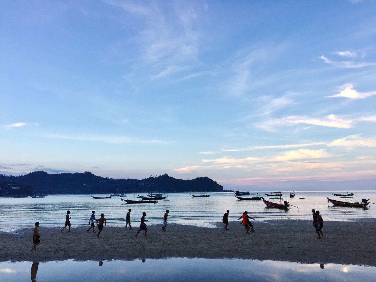 Beach Sunset Soccer Thai Boat Longtailboat Nature Kids Football The Great Outdoors - 2017 EyeEm Awards