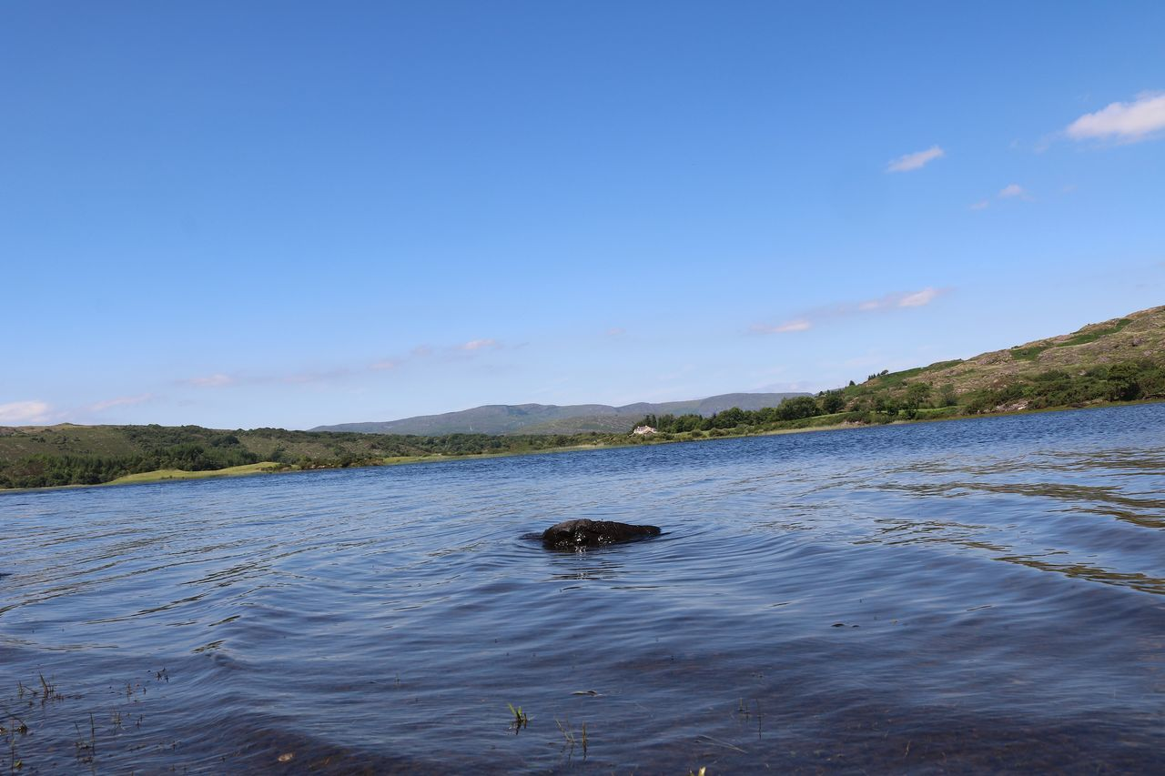 Beauty In Nature Blue Sky Calm Day Ireland Lake Landscape Lough Allua Macroom Nature No People Outdoors Rock Scenics Sky Swimming Water Wave