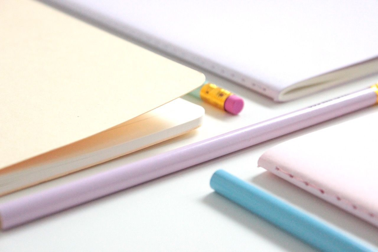 back to school Autumn back to school flatlay hm Moleskine paper pastel pastel colors Pastels pencil school