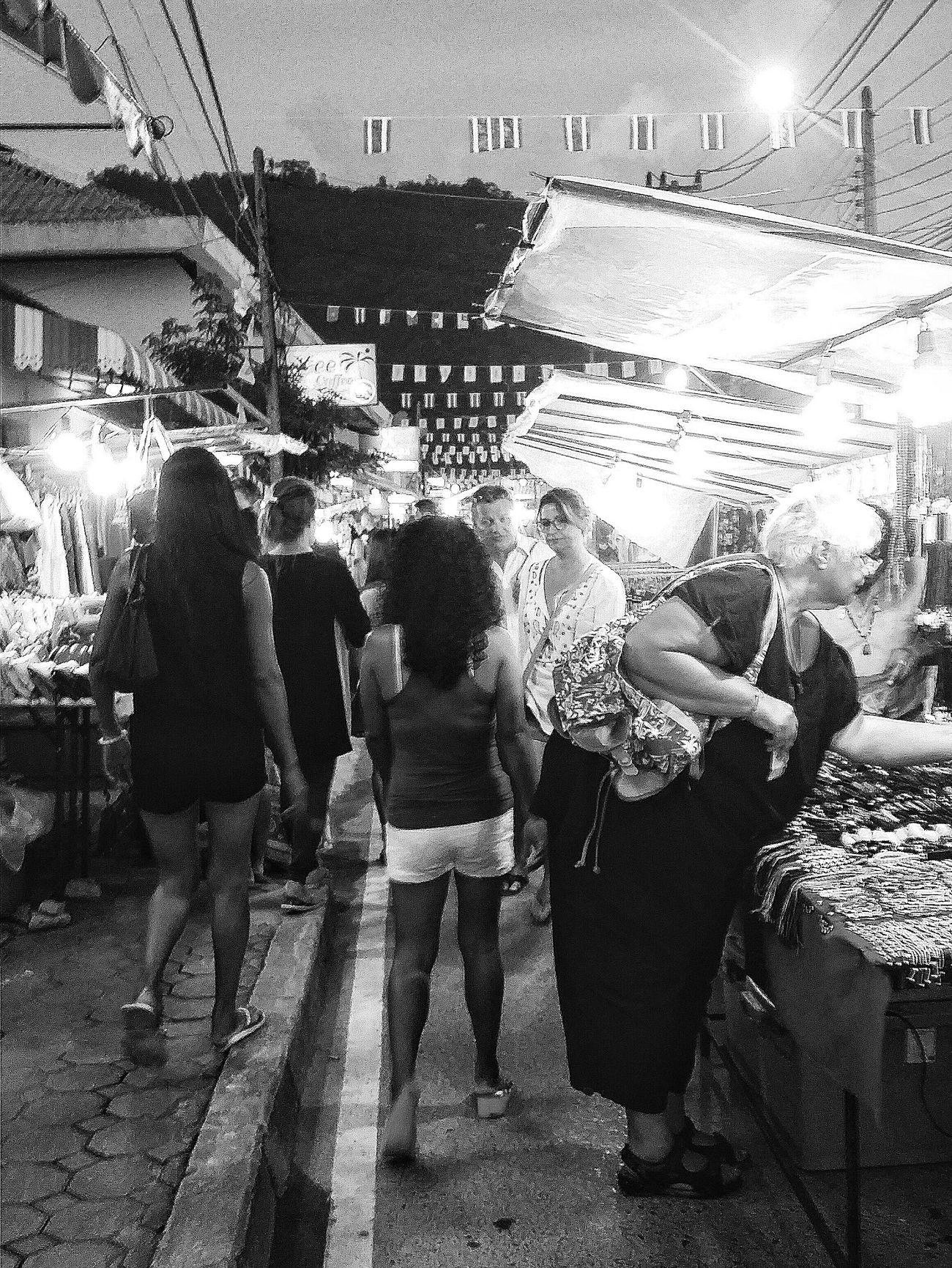 Lamai Night Market Crowds Shopping Stalls Koh Samui Thailand Travelphotography Streetphotography Night Bnw Bnw_streetphotography Bnw_captures Bnw_world Bnw_travel Bnw_kohsamui Bnw_thailand