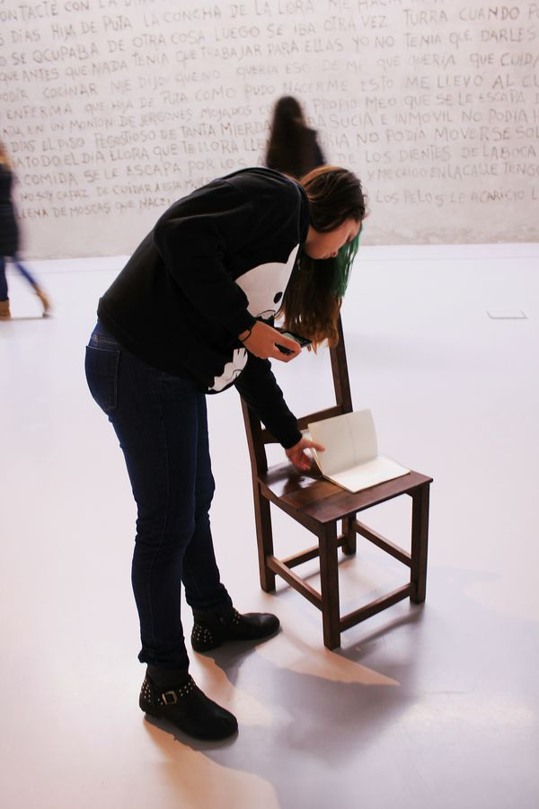Art Slavery Still Exists Prostitution Awareness Museo Mar Mar Del Plata  Argentina Buenos Aires Reading People Together