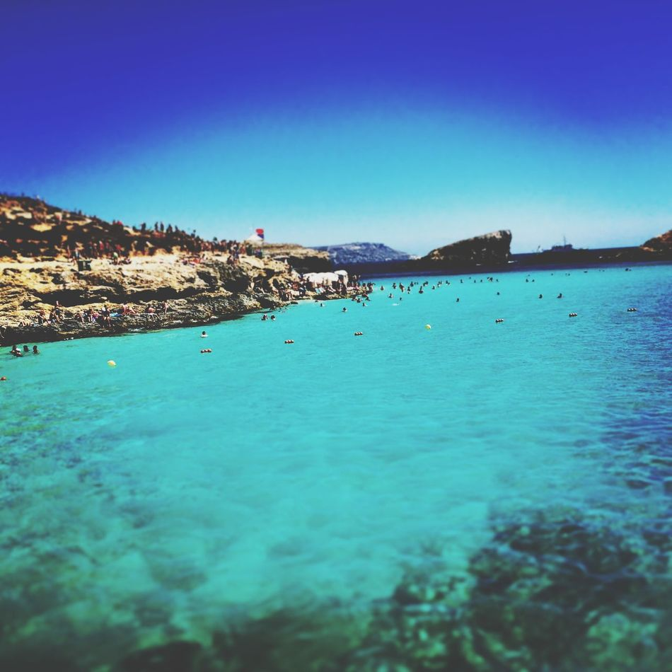 The Blue Lagoon, Comino Bluelagoon Water Blue Nature Malta Enjoying Life