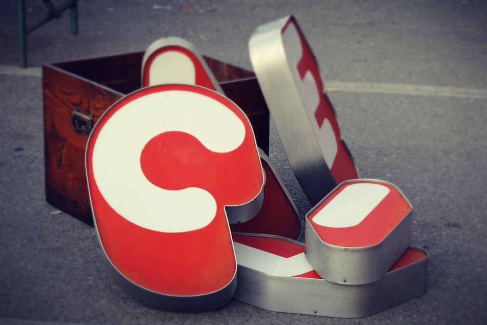 Alphabet Alphabetical & Numerical Group Of Objects Letter Lettering Outdoors Red Shape Signage EyeEmNewHere Neon Sign Art Is Everywhere
